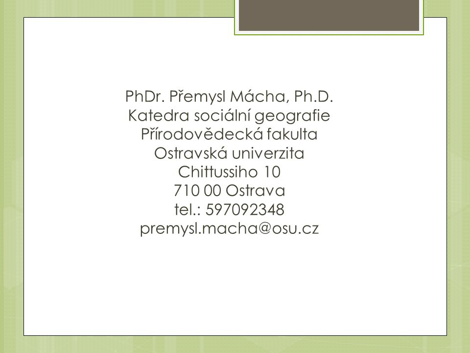 PhDr.Přemysl Mácha, Ph.D.