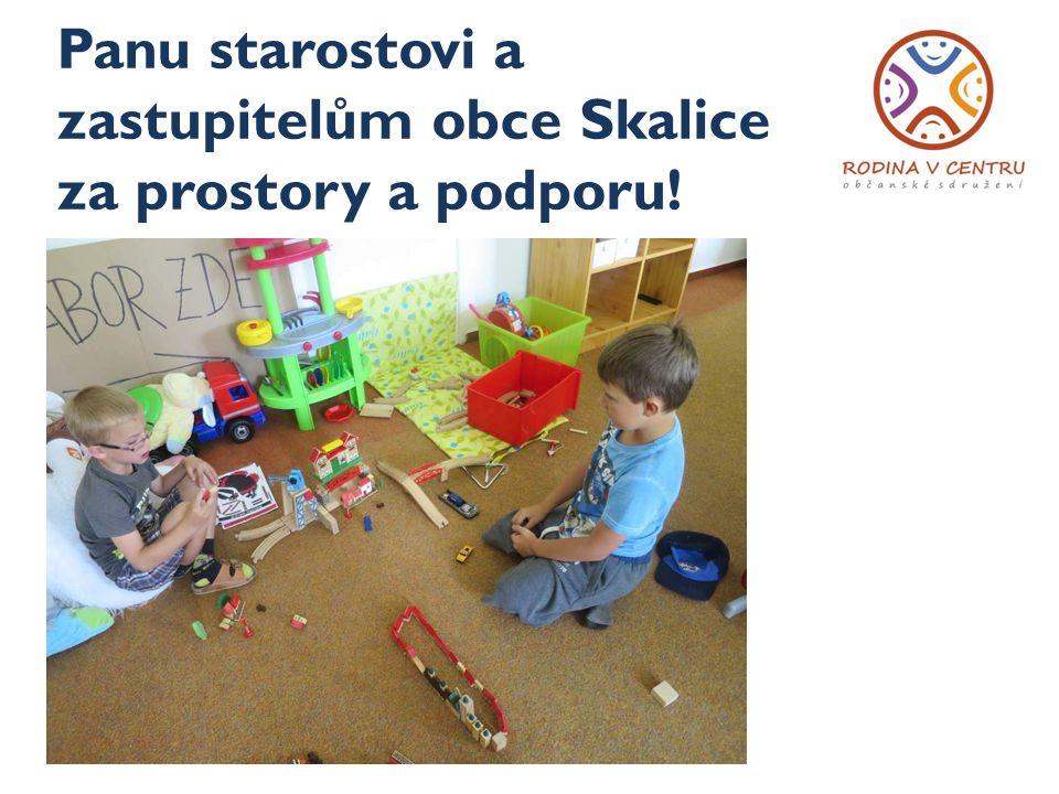 Panu starostovi a zastupitelům obce Skalice za prostory a podporu!