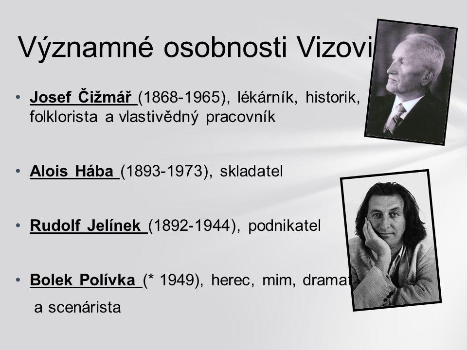 Josef Čižmář (1868-1965), lékárník, historik, folklorista a vlastivědný pracovník Alois Hába (1893-1973), skladatel Rudolf Jelínek (1892-1944), podnik