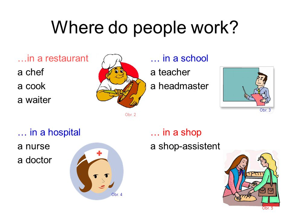 Where do people work.