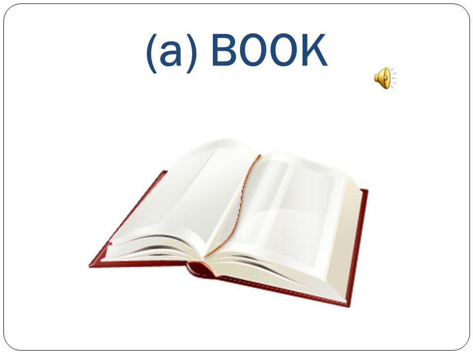 WHAT'S THIS? This is a) a RUBBER b) a RULER c) a BOOK