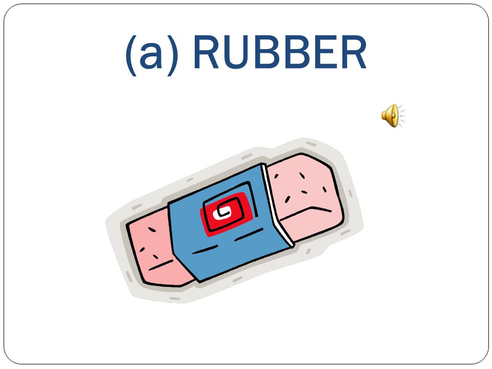 WHAT'S THIS? This is a) a CRAYON b) a PENCIL c) a RUBBER