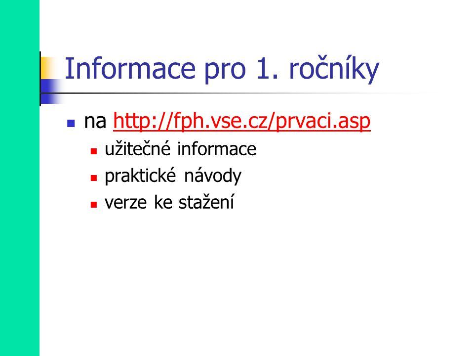 Informace pro 1.