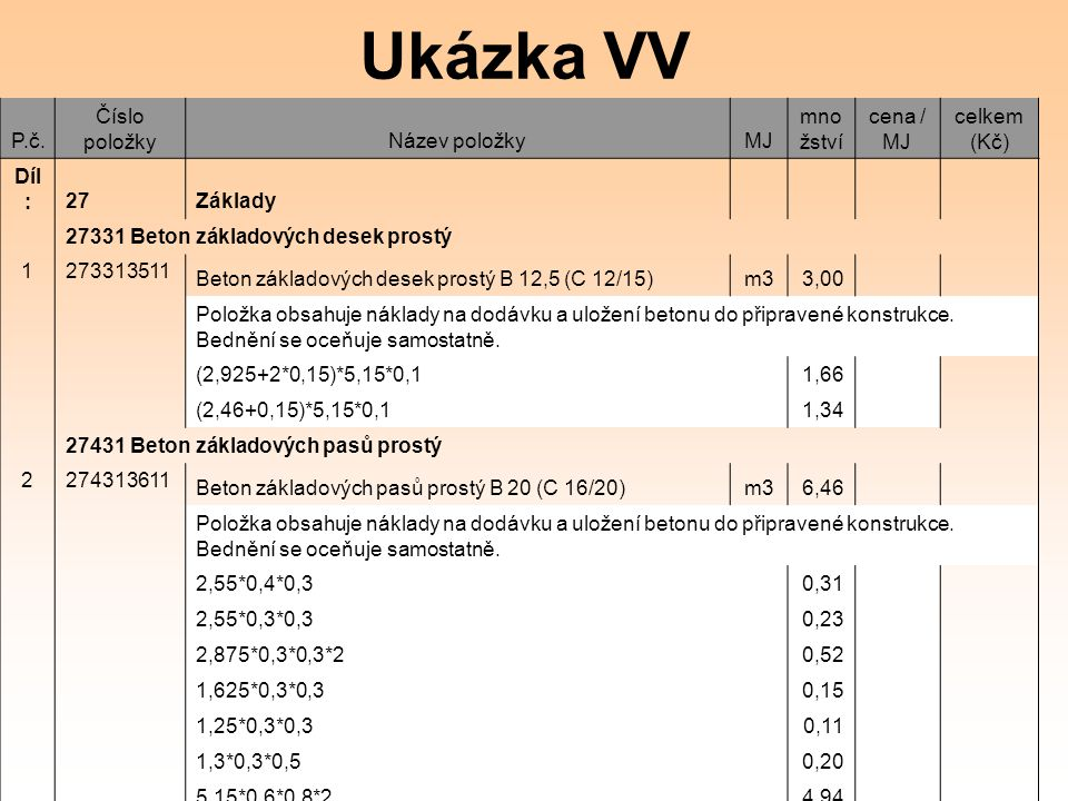 Ukázka VV P.č.