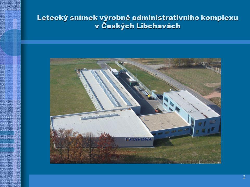 2 Letecký snímek výrobně administrativního komplexu v Českých Libchavách