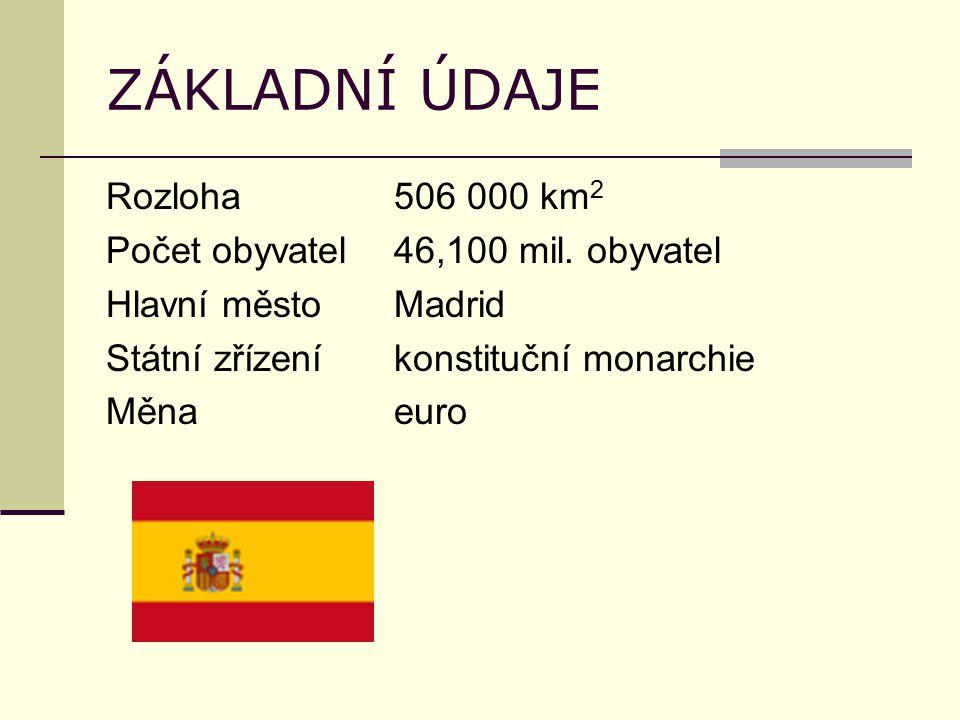 ZÁKLADNÍ ÚDAJE Rozloha506 000 km 2 Počet obyvatel46,100 mil.