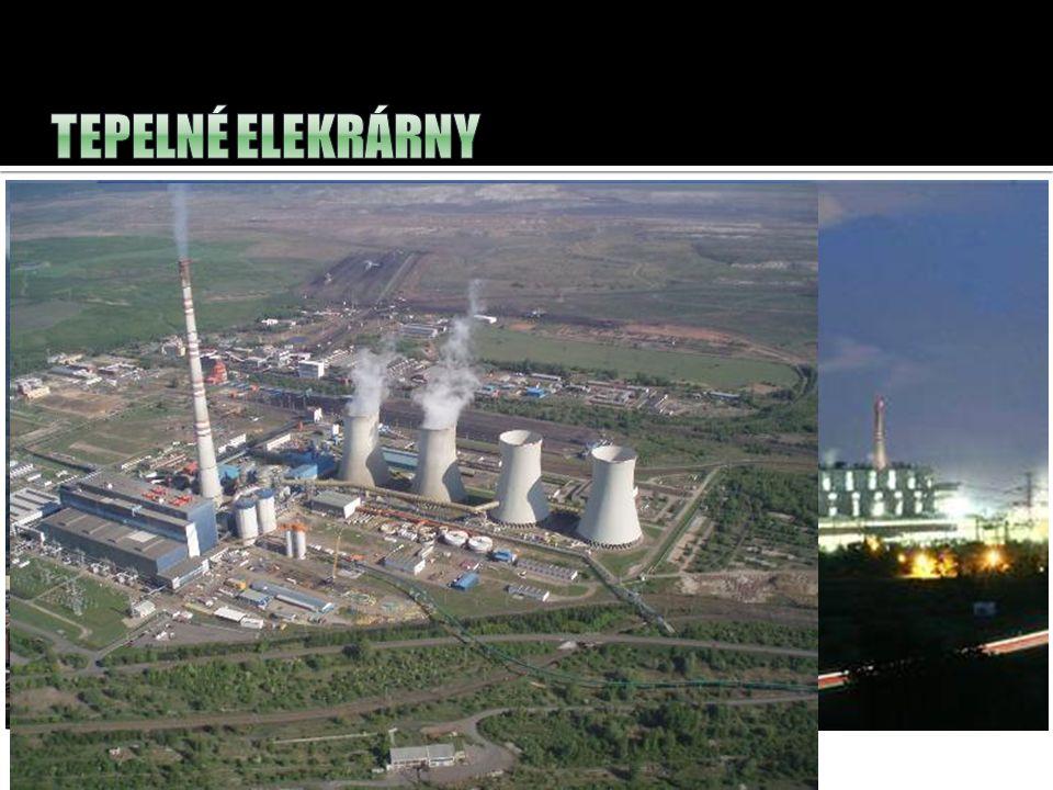 tepelné elektrárny – přeměňují ????? na elektrickou energii. Prunéřov – výkon: 1050 MW Tušimice – Výkon:800 MW