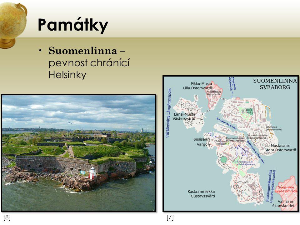 Památky Suomenlinna – pevnost chránící Helsinky [7][7][8][8]