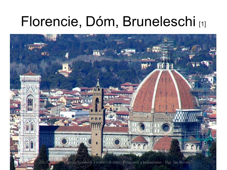 Florencie, Dóm, Bruneleschi [1] ZA, 1. ročník / Kapitoly z českých a světových dějin, Renesance a humanismus / Mgr. Jan Slovák