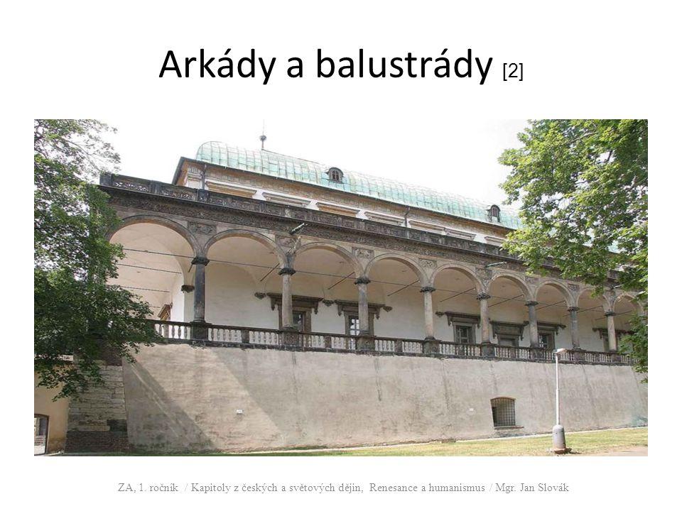 Arkády a balustrády [2] ZA, 1.