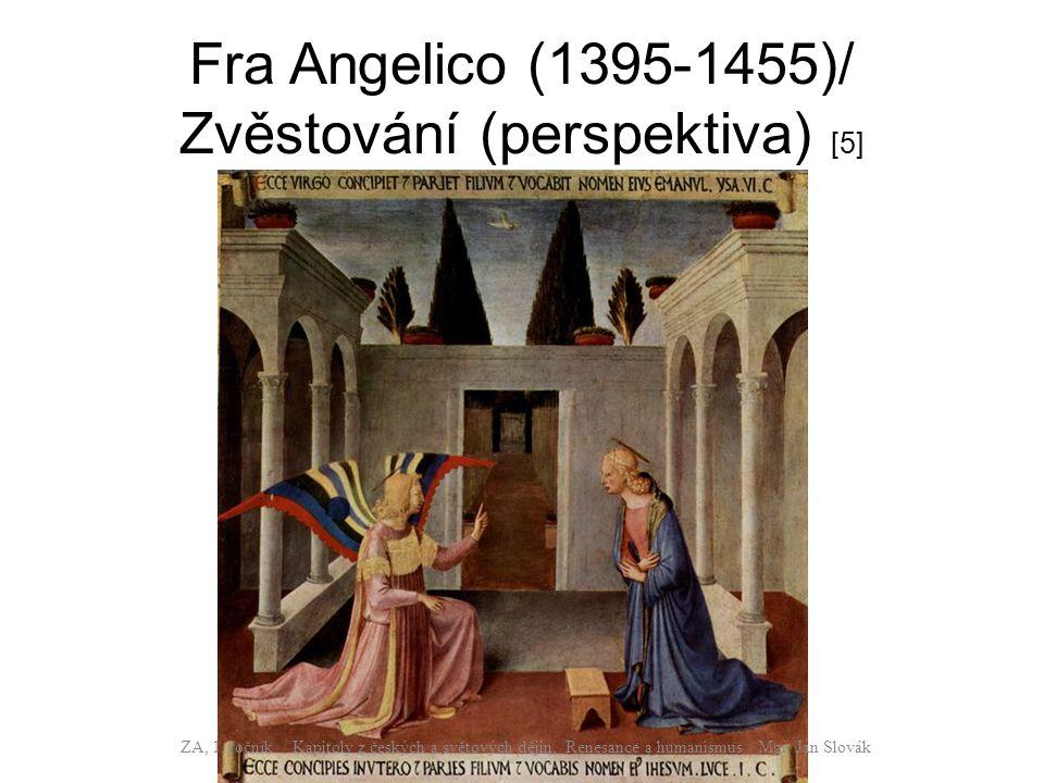 Fra Angelico (1395-1455)/ Zvěstování (perspektiva) [5] ZA, 1. ročník / Kapitoly z českých a světových dějin, Renesance a humanismus / Mgr. Jan Slovák