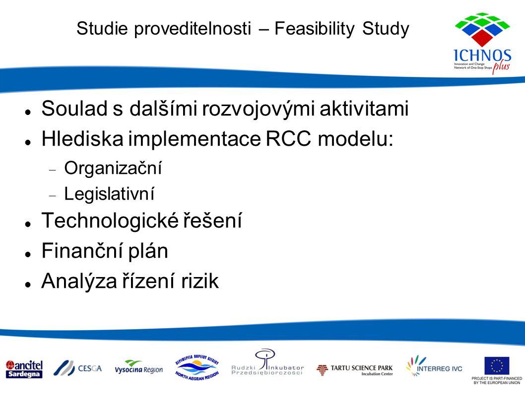 Studie proveditelnosti – Feasibility Study DISKUZE – postřehy, dojmy, dotazy, rizika, možnosti atd.