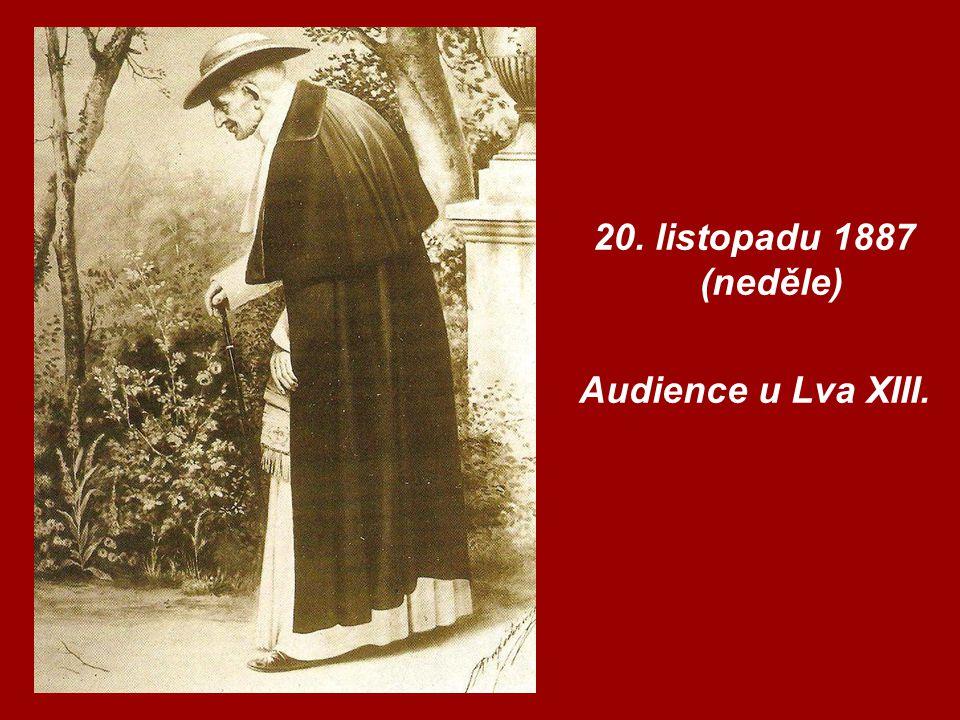 20. listopadu 1887 (neděle) Audience u Lva XIII.