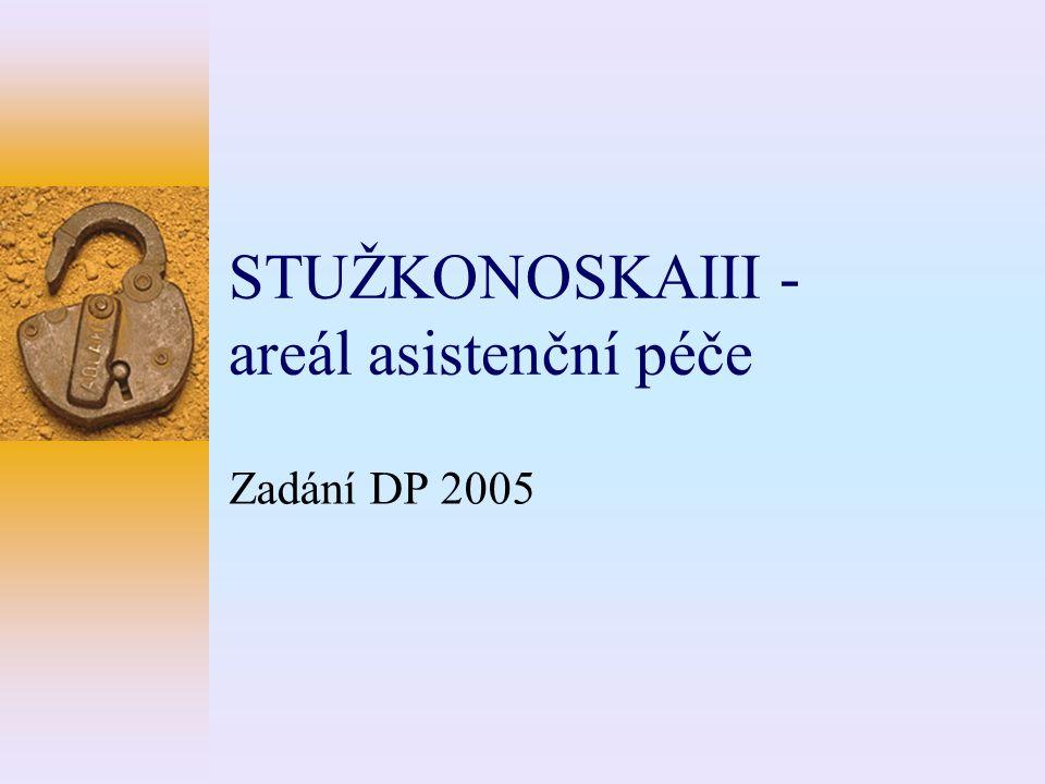 STUŽKONOSKAIII - areál asistenční péče Zadání DP 2005