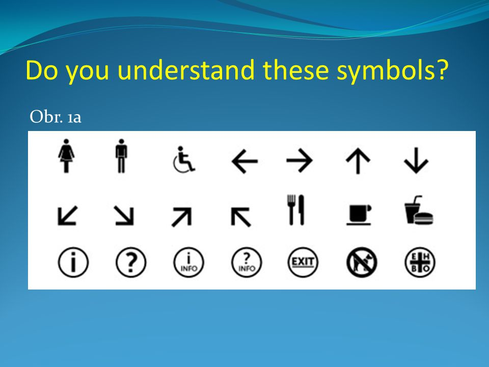 Do you understand these symbols? Obr. 1b