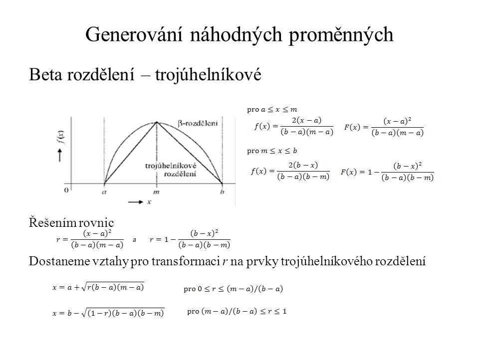 Časová analýza stochastických sítí - PERT Zadání: Určete kritickou cestu ve stochastické síti a minimální čas potřebný na dokončení projektu metodou PERT.