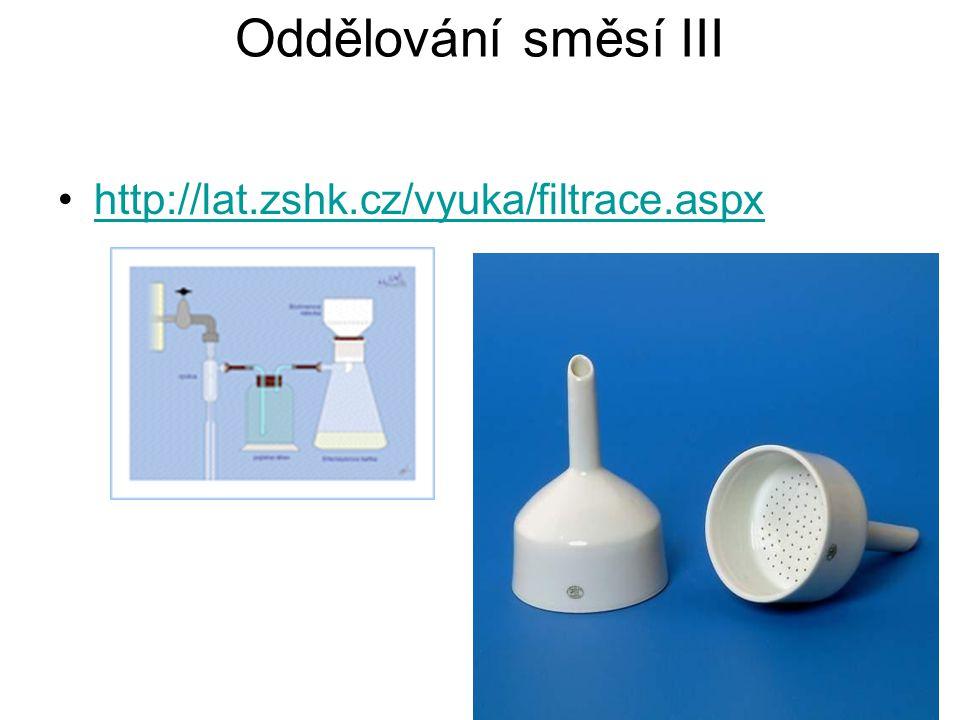 Oddělování směsí III http://lat.zshk.cz/vyuka/filtrace.aspx