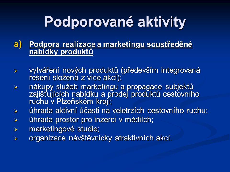 Lokalizace podpory na území Plzeňského kraje