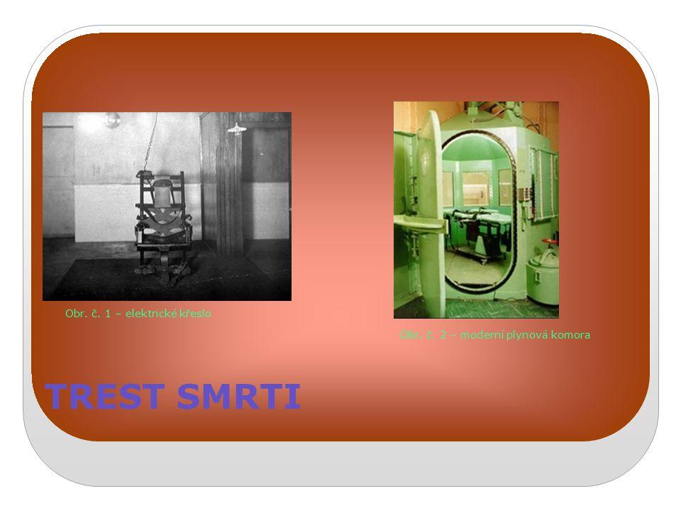 TREST SMRTI Obr. č. 1 – elektrické křeslo Obr. č. 2 – moderní plynová komora