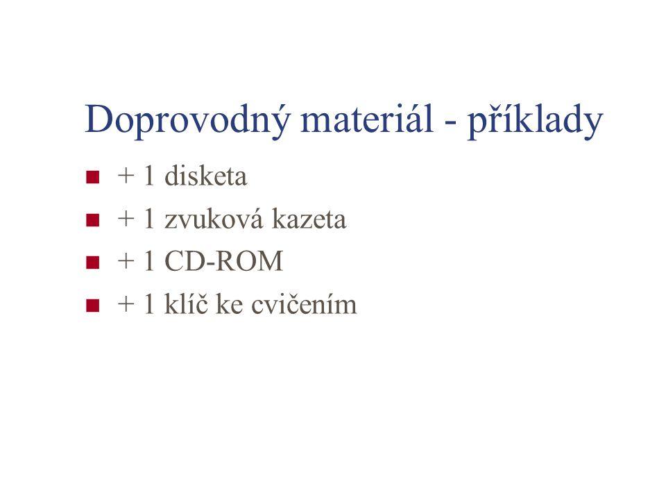 Doprovodný materiál - příklady + 1 disketa + 1 zvuková kazeta + 1 CD-ROM + 1 klíč ke cvičením