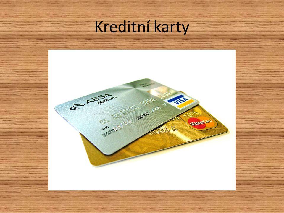 Platební karty Při zřízení běžného účtu nám je poskytnuta platební karta Tuto kartu využíváme k bezhotovostnímu placení v obchodech, výběr z bankomatu….