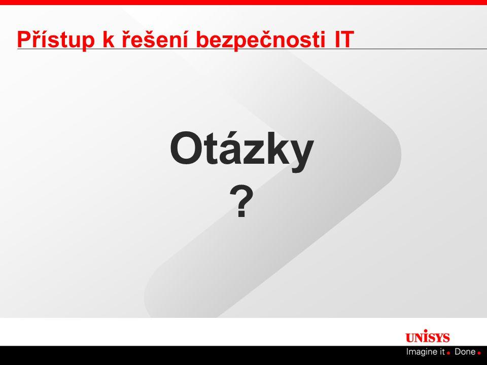 Přístup k řešení bezpečnosti IT Otázky