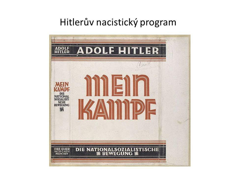Nacistická propaganda Hitler vyzývá Němce na našem území k připojení k říši – v našem pohraničí nacistické strany vyvolávají neklid a rozvrat Nacistická propaganda mluvila o nutnosti velkoněmecké říše ve střední Evropě – území N, Rak., ČSR, Polsko Budova bývalého nacistického ministerstva propagandy v Berlíně