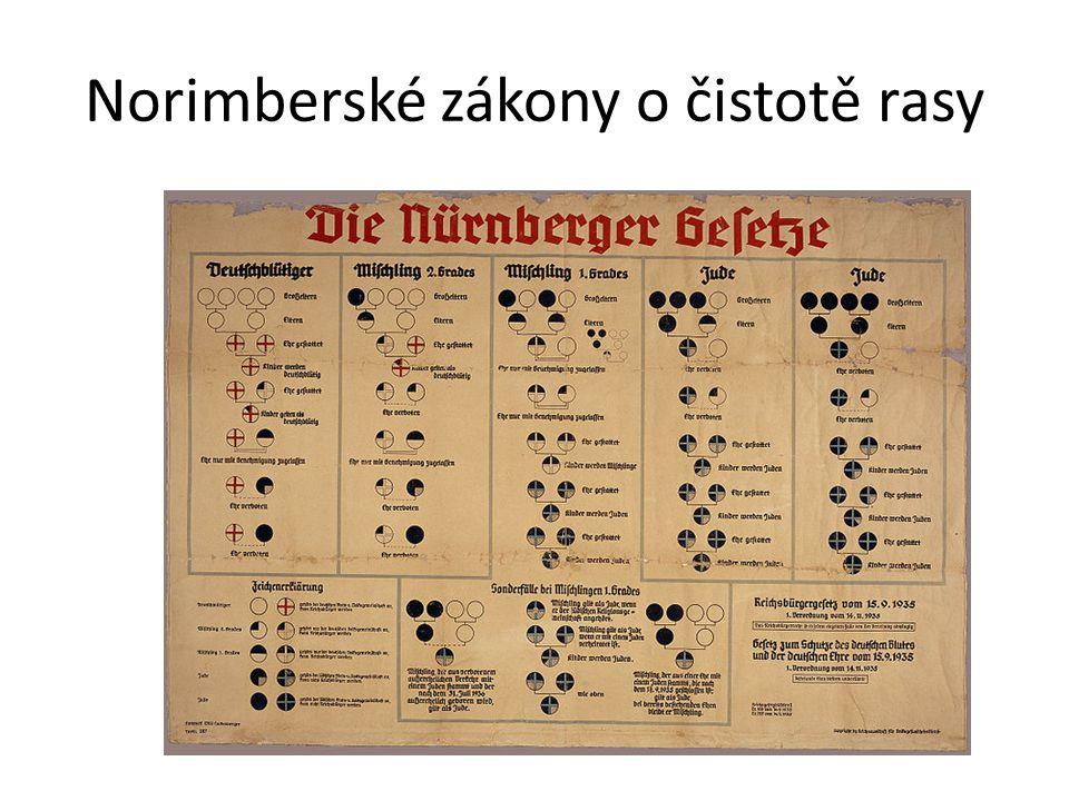 Norimberské zákony o čistotě rasy