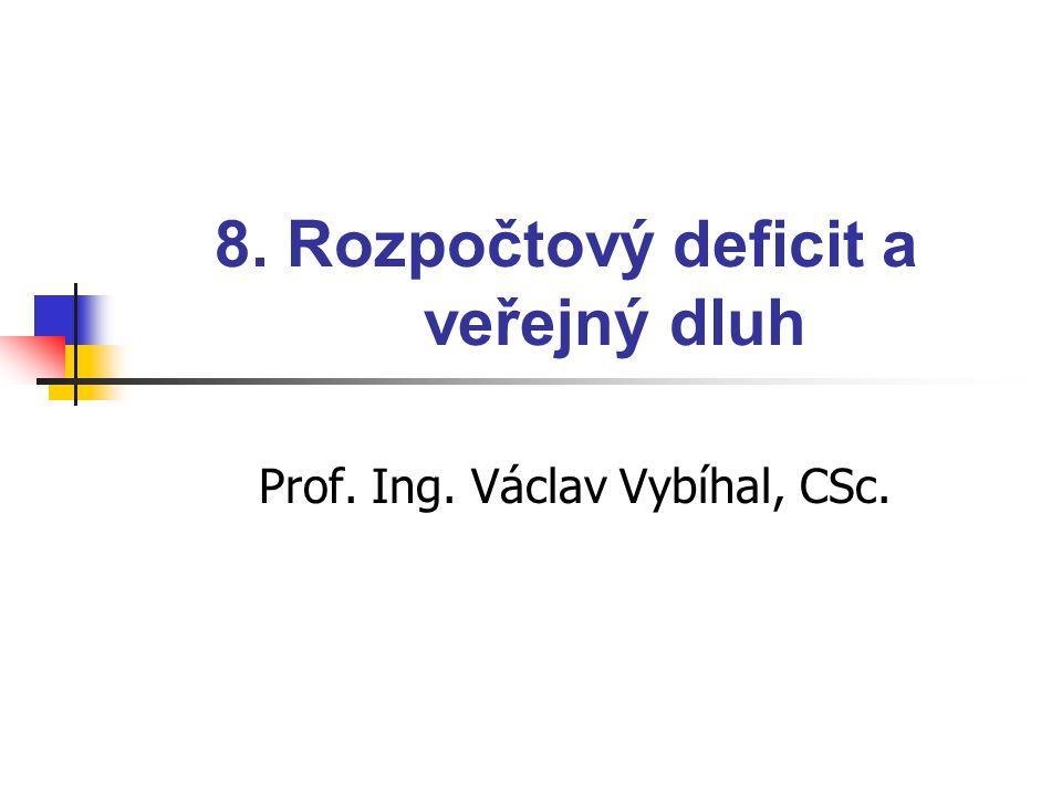 8. Rozpočtový deficit a veřejný dluh Prof. Ing. Václav Vybíhal, CSc.