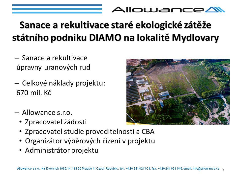 Allowance s.r.o., Na Dvorcích 1989/14, 114 00 Prague 4, Czech Republic, tel.: +420 241 021 031, fax: +420 241 021 046, email: info@allowance.cz Sanace