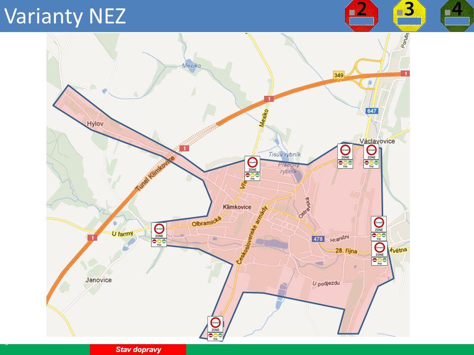 Varianty NEZ 13 Stav dopravy
