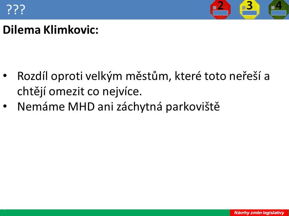 ??.24 Dilema Klimkovic: Rozdíl oproti velkým městům, které toto neřeší a chtějí omezit co nejvíce.