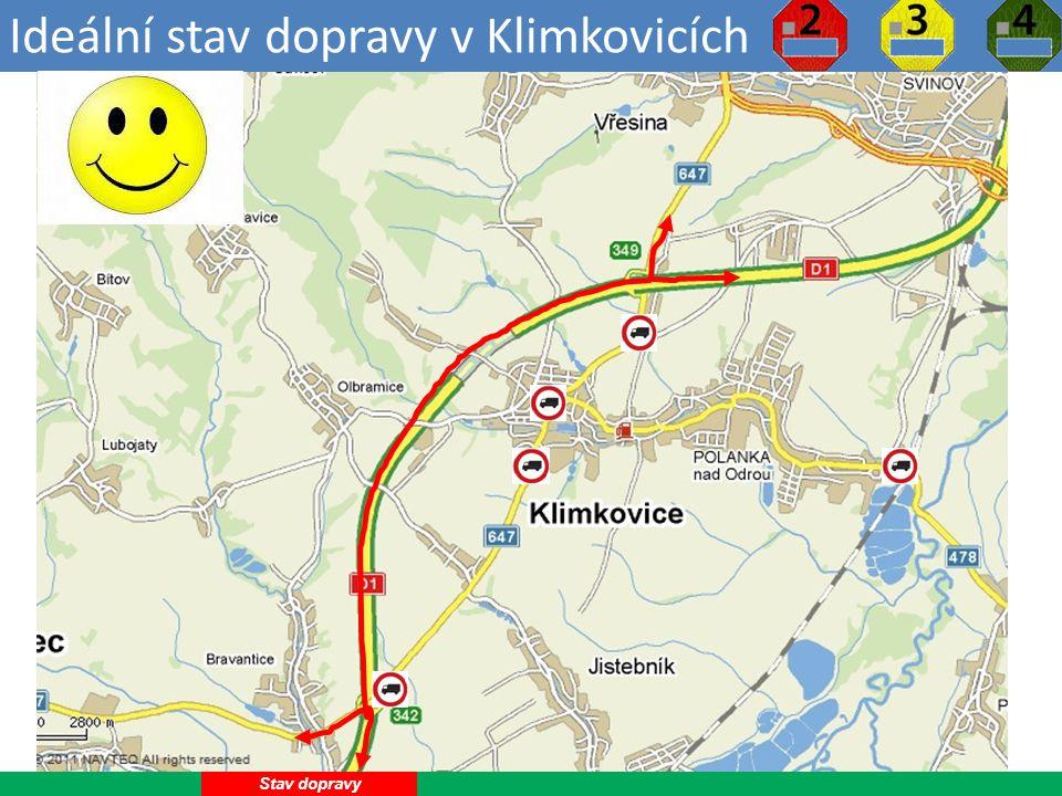 Ideální stav dopravy v Klimkovicích 4 Stav dopravy