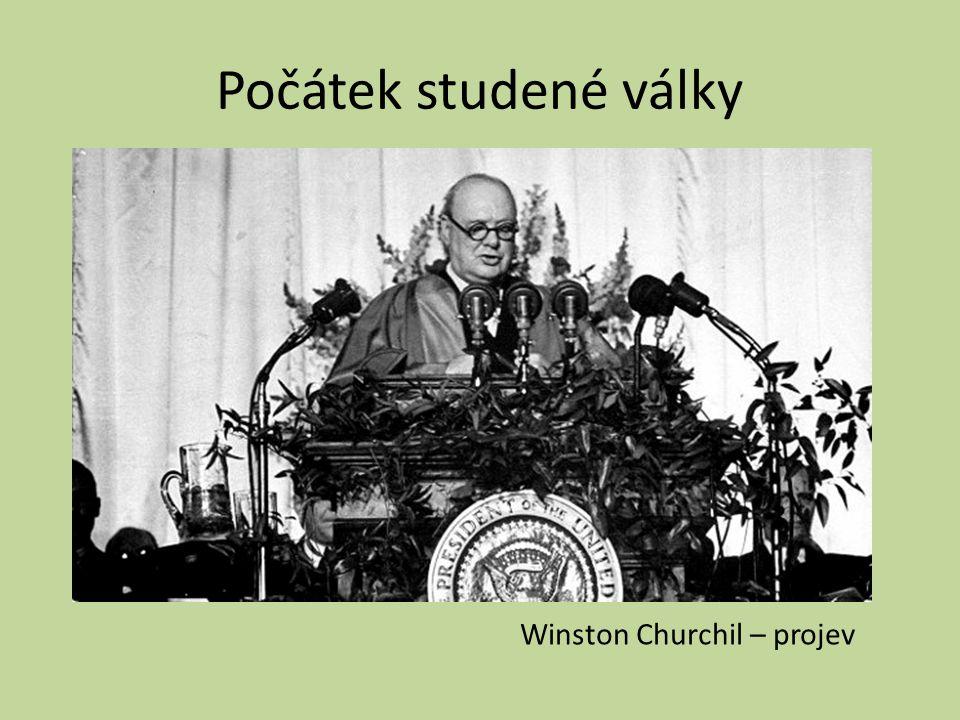 Počátek studené války Winston Churchil – projev