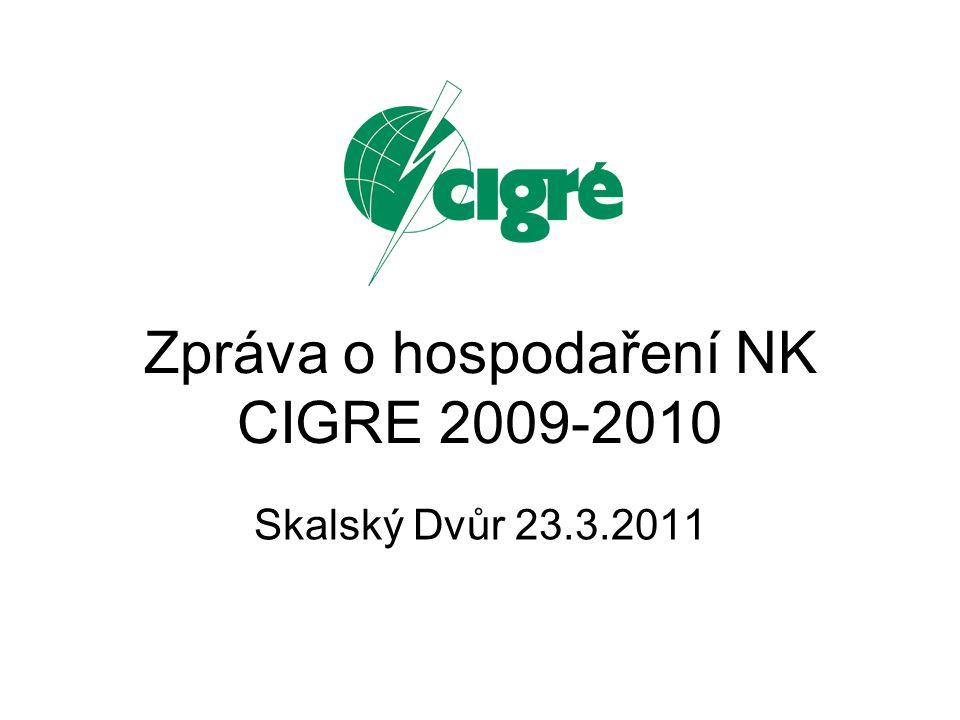 Zpráva o hospodaření NK CIGRE 2009-2010 Skalský Dvůr 23.3.2011