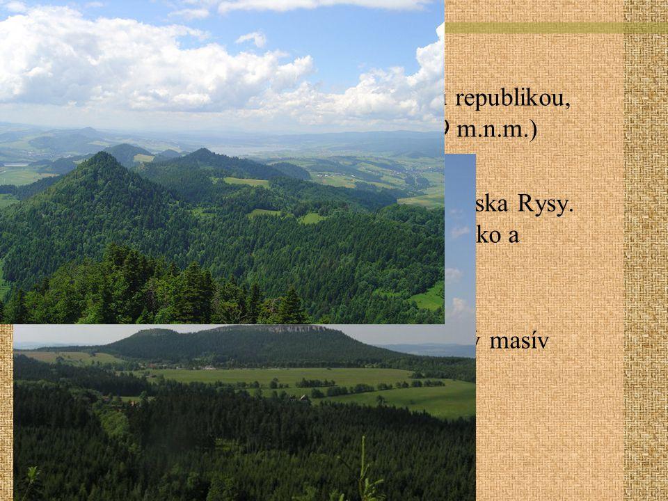 Geografie Stolové hory- u hranice s Českou republikou, nejv.