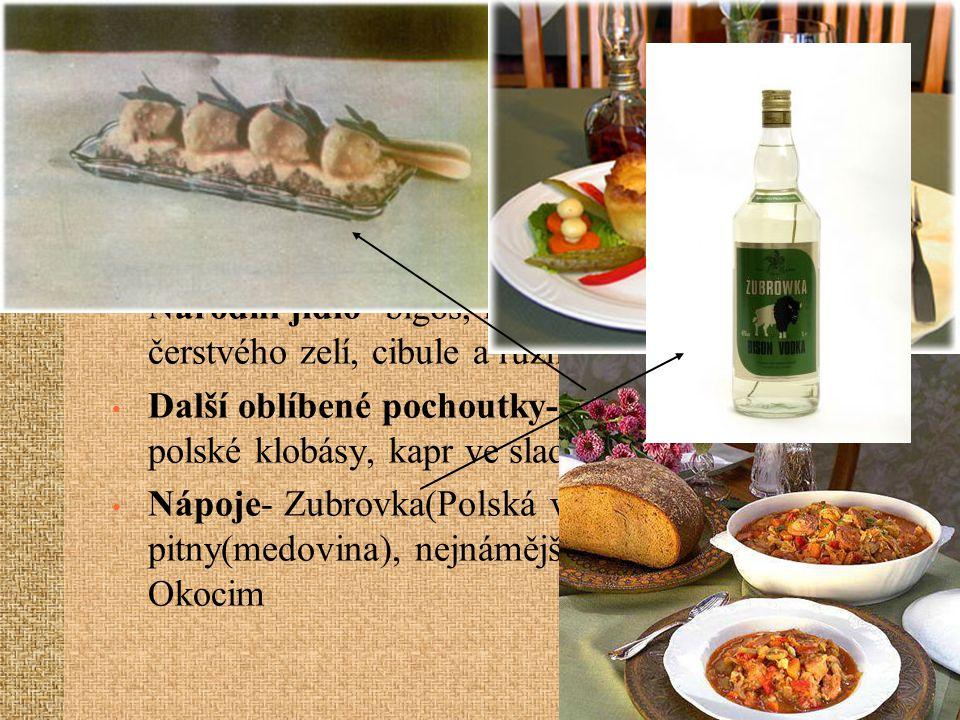 STRAVOVÁNÍ Hlavní složka jídla- brambory Charakteristické ingredience- kopr, majoránka, kmín a různé druhy hub ve sladkokyselém nálevu Národní jídlo-
