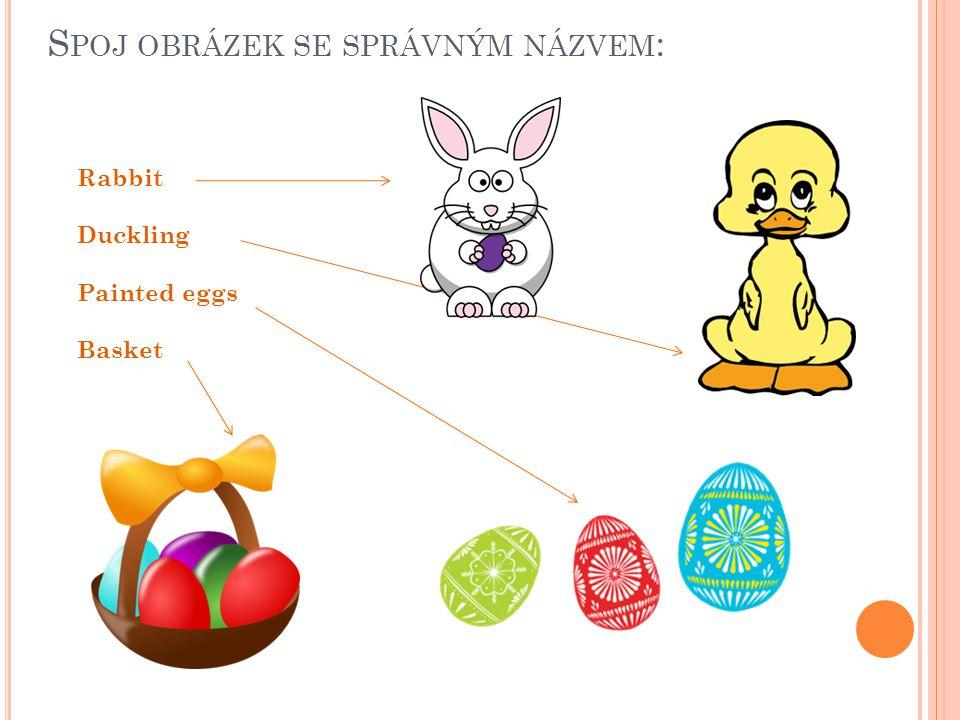 S POJ OBRÁZEK SE SPRÁVNÝM NÁZVEM : Rabbit Duckling Painted eggs Basket
