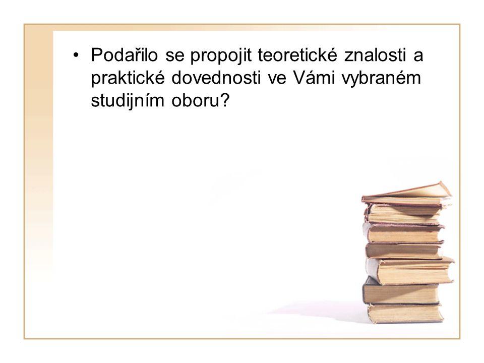 Podařilo se propojit teoretické znalosti a praktické dovednosti ve Vámi vybraném studijním oboru?
