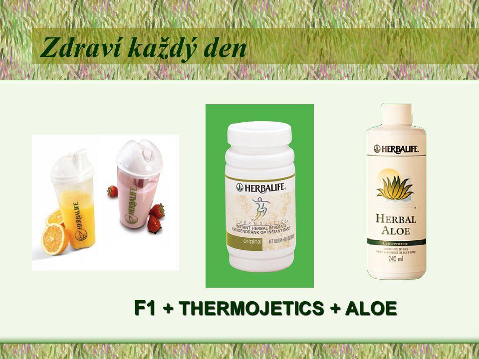 Zdraví každý den F1 + THERMOJETICS + ALOE F1 + THERMOJETICS + ALOE