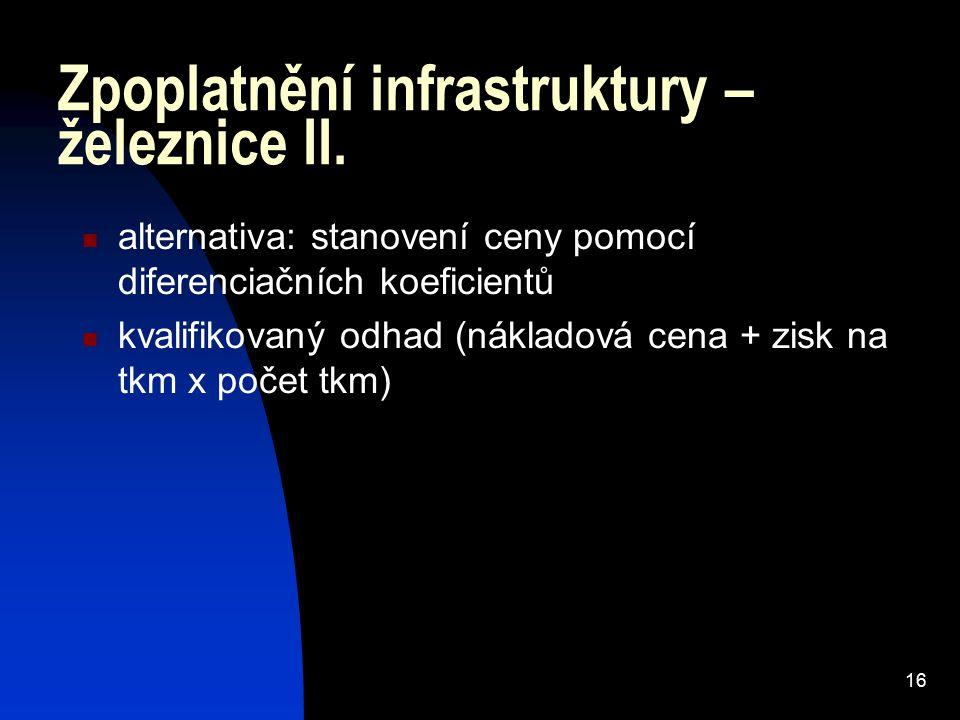 16 Zpoplatnění infrastruktury – železnice II.