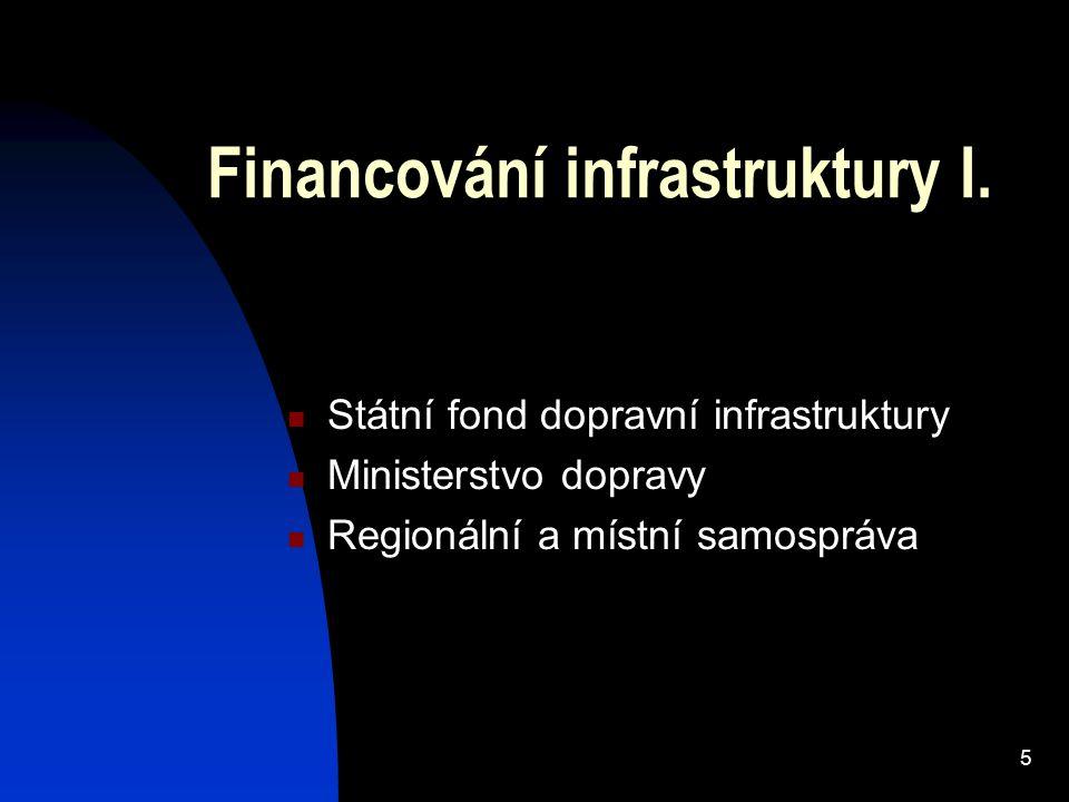 5 Financování infrastruktury I.