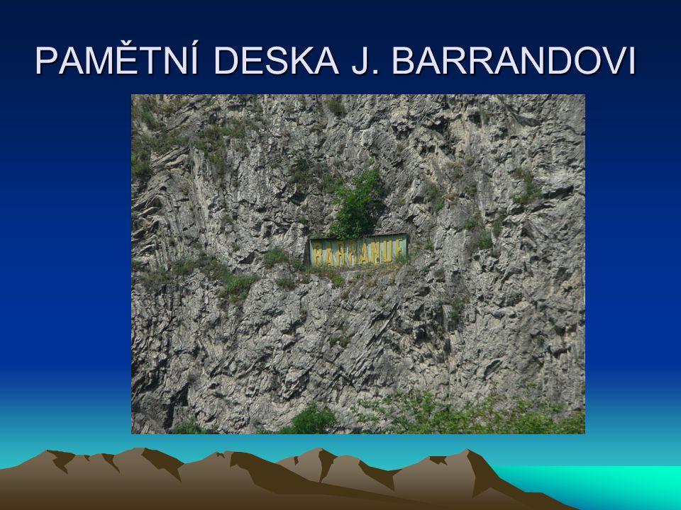 PAMĚTNÍ DESKA J. BARRANDOVI
