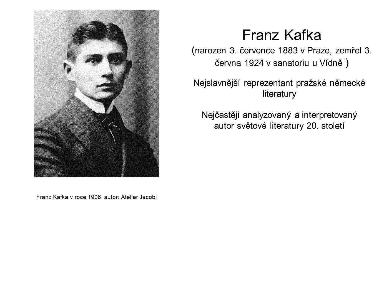 Franz Kafka v roce 1906, autor: Atelier Jacobi Franz Kafka ( narozen 3.