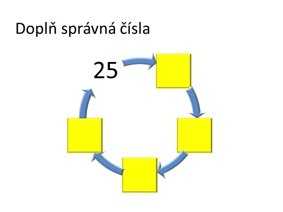 Doplň správná čísla 25