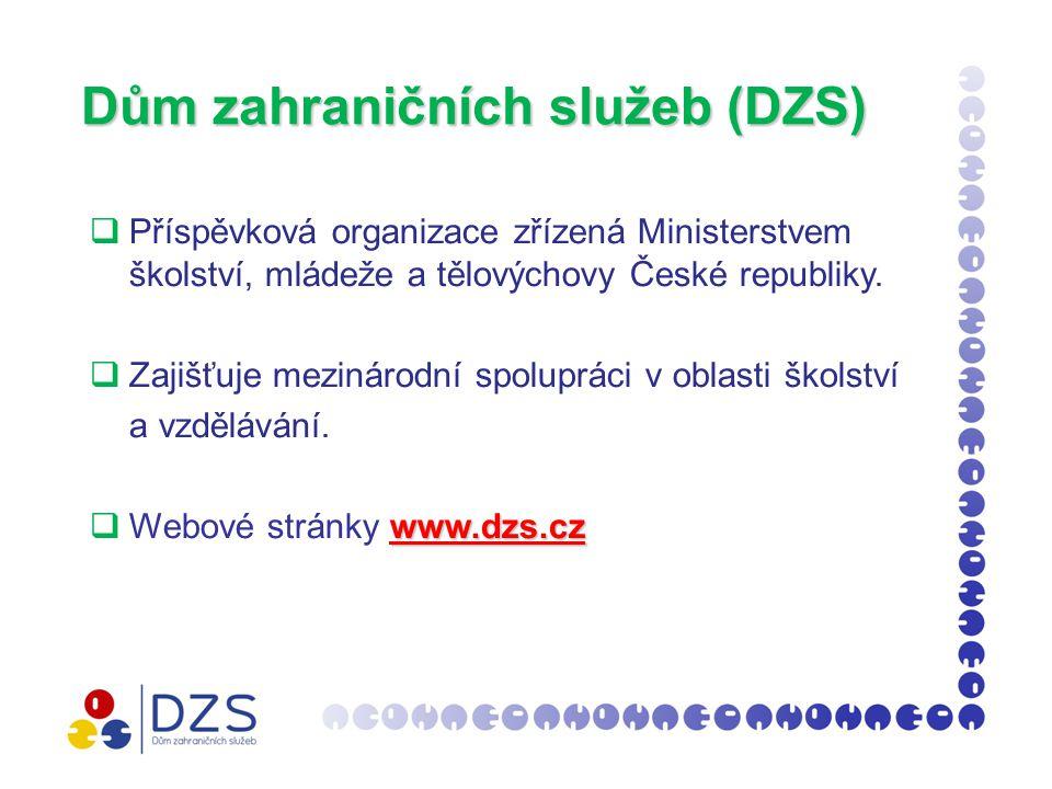 Dům zahraničních služeb (DZS)  Příspěvková organizace zřízená Ministerstvem školství, mládeže a tělovýchovy České republiky.