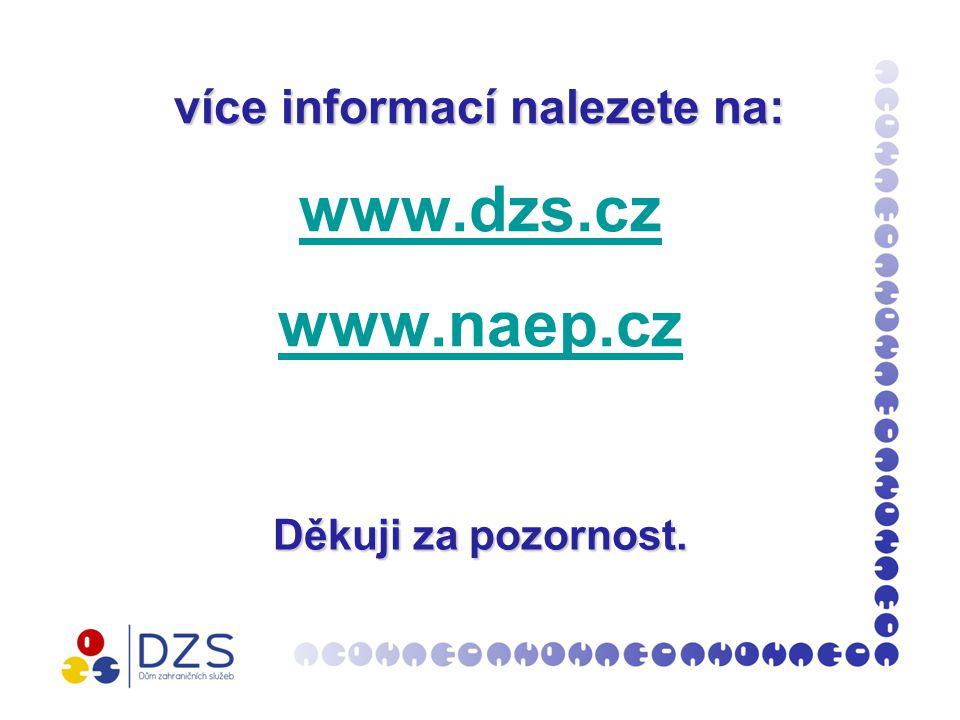 více informací nalezete na: více informací nalezete na: www.dzs.cz www.naep.cz www.dzs.cz www.naep.cz Děkujiza pozornost.