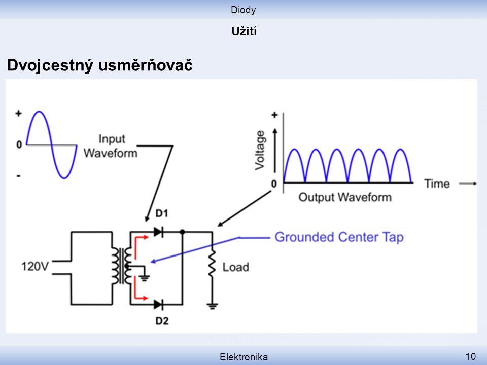 Diody Elektronika 10 Dvojcestný usměrňovač