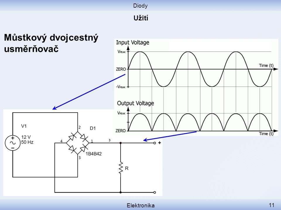 Diody Elektronika 11 Můstkový dvojcestný usměrňovač