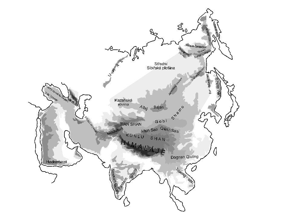 2007 Zdeněk Bergman Pohoří - další Kavkaz – Elbrus – 5 642 Elborz – Demávend – 5 604 Ararat – 5 165 Zágros – 4 547 Altaj – Belucha – 4 506 Taurus – 3 734 Západní a Východní Ghát